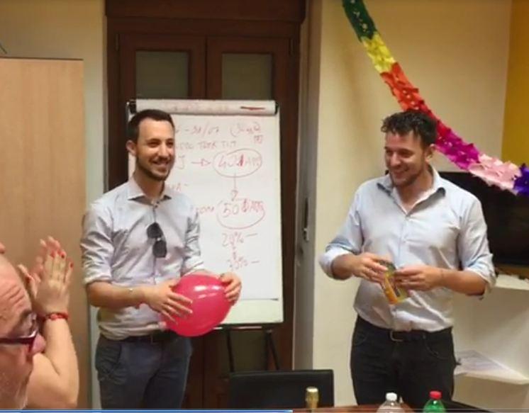 festa primo compleanno top solutions torino call center