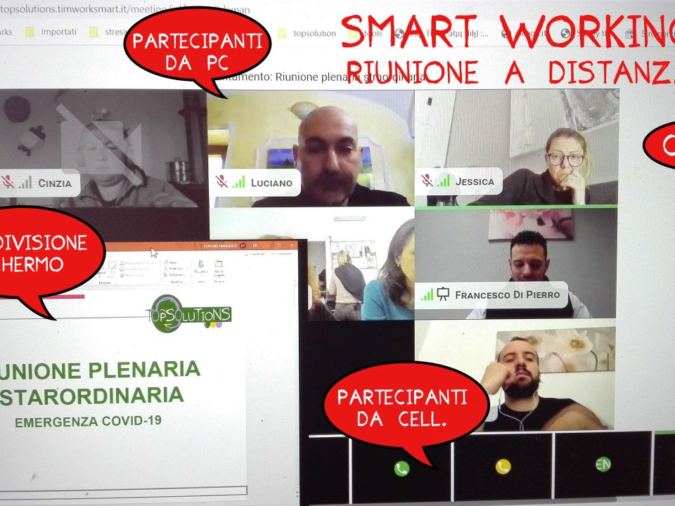 video conferenza in smart working by top solutions