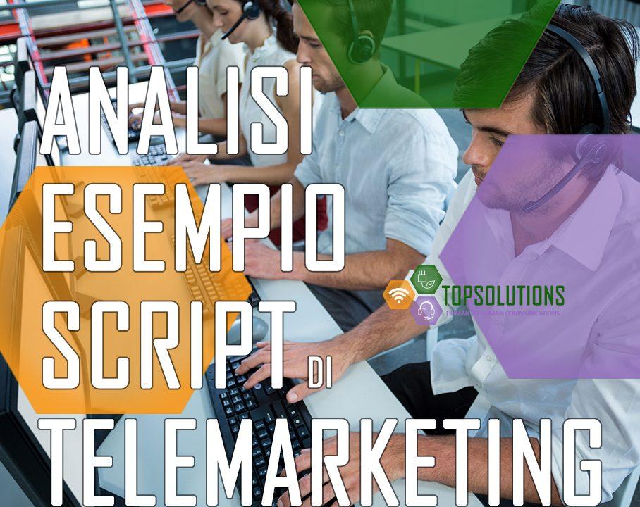 analisi esempio script telemarketing top solutions torino